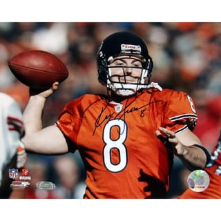 Rex Grossman Throw in Orange Jersey 8x10 Photograph