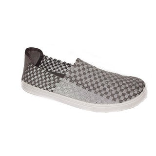 Women's Silver Comfort Slip-on Walking Shoes