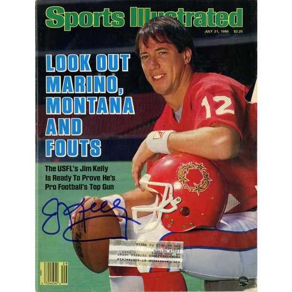 Jim Kelly Signed Sports Illustrated Magazine 7/21/1986