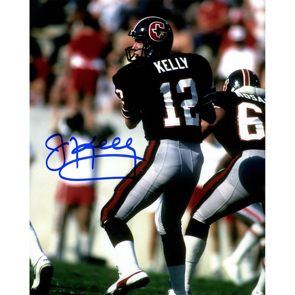Jim Kelly Signed Houston Gamblers Vertical 8x10 Photo 17299506