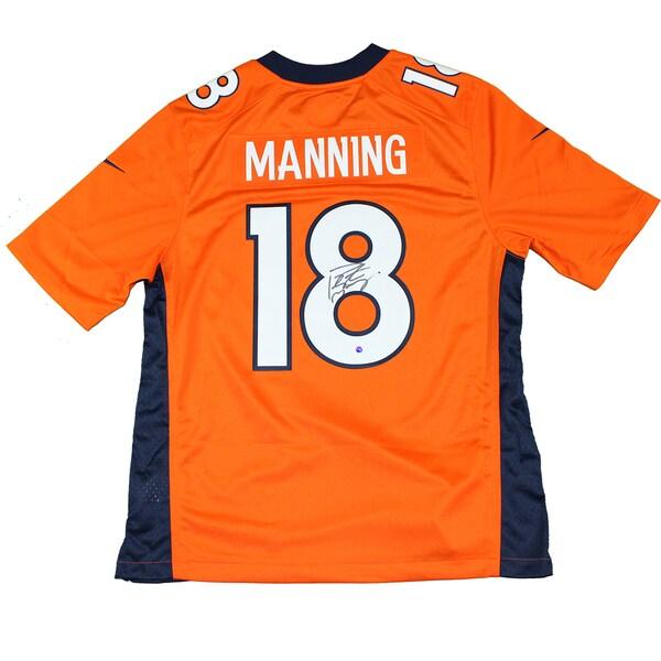 Peyton Manning Signed Orange Denver Broncos Twill Elite Nike Jersey