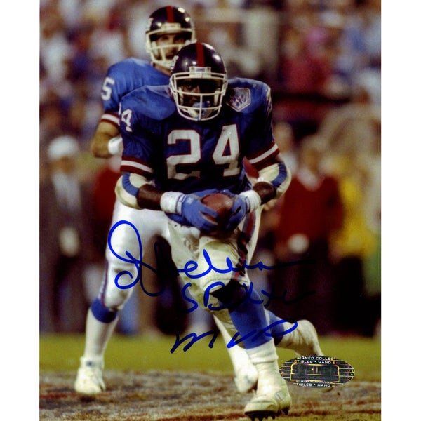 OJ Anderson Signed Rushing SB XXV 4x5 Photo w/ SB XXV Insc