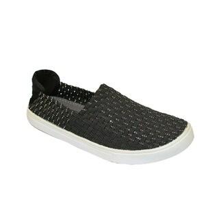 Women's Black Slip-on Walking Shoes