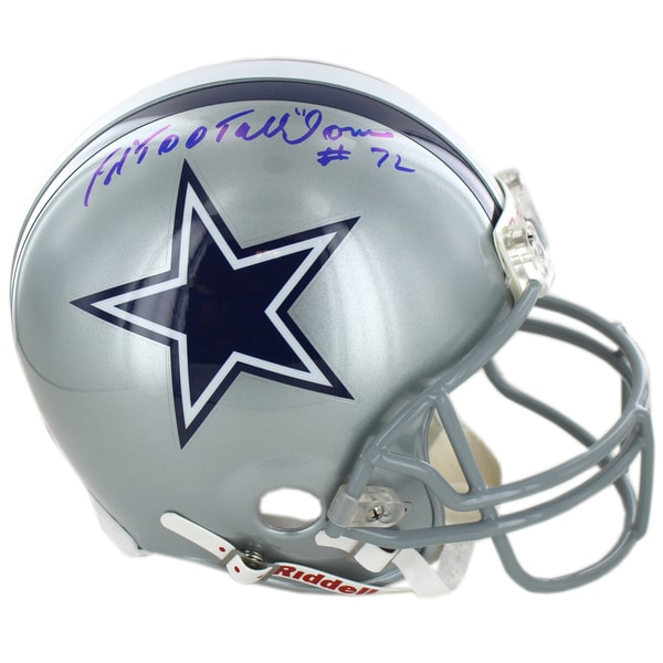 "Ed ""Too Tall"" Jones Signed Dallas Cowboys Authentic Helmet"