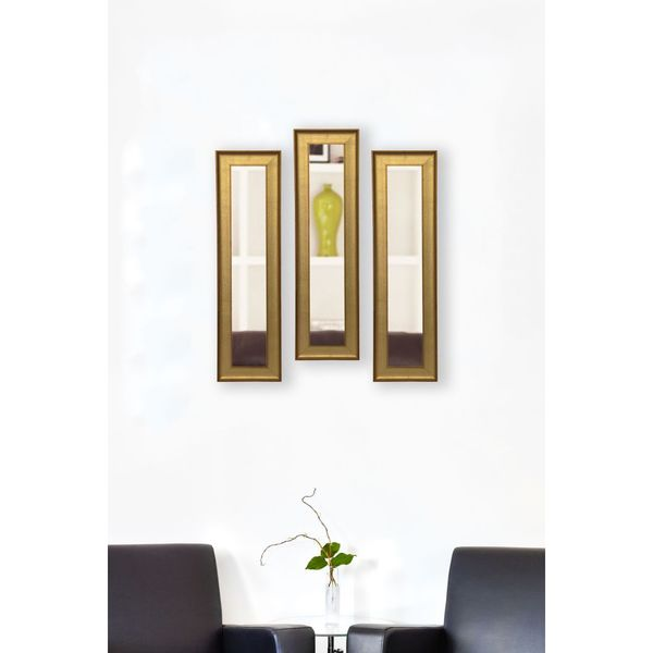 American Made Vintage Gold Mirror Panel - Black/Gold 17300948