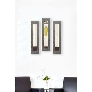 American Made Rayne Grey Barnwood Mirror Panel