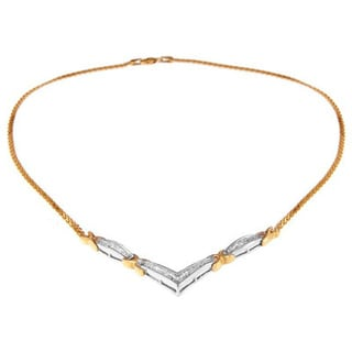 14k Yellow Gold 1ct TDW Princess Diamond Necklace (H-I, SI1-SI2)