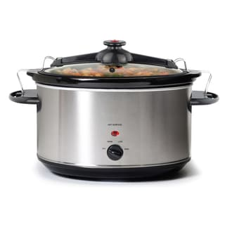 8.5-Quart Stainless Steel Slow Cooker with Locking Lid
