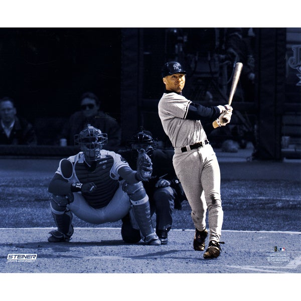 Derek Jeter April 1st Game HR in 1996 Metallic 16x20 Photo Uns