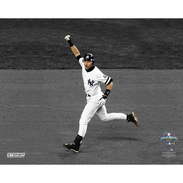 Derek Jeter 2001 WS Pump Fist Home Run 16x20 uns.