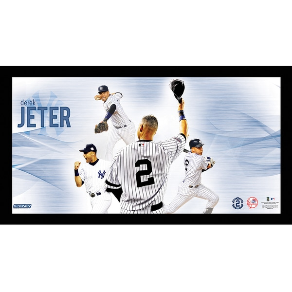 Derek Jeter #2 Tipping Cap Multi-Exposure Framed 10x20 7331 Style
