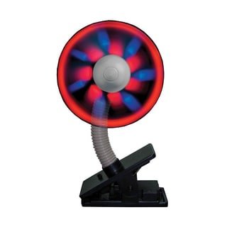 Can You Imagine Fantastik Clip On Light Show Fan (Black)