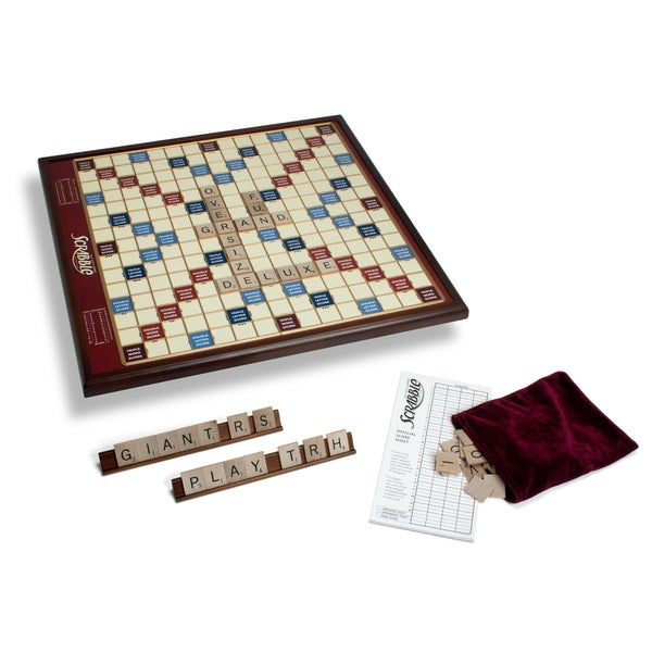 Giant Scrabble Game Deluxe Wood Edition