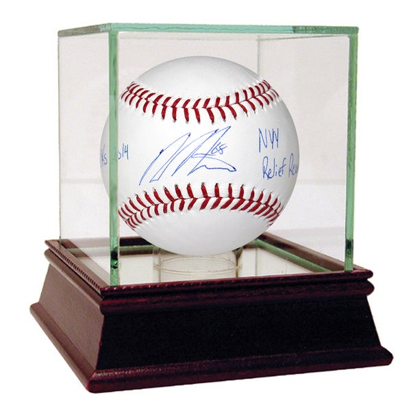Dellin Betances Signed MLB Baseball w/ 135K's 2014, NYY Relief Record (MLB Auth)