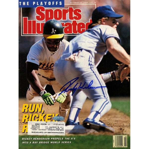 Rickey Henderson Signed 10/16/89 Sports Illustrated Magazine