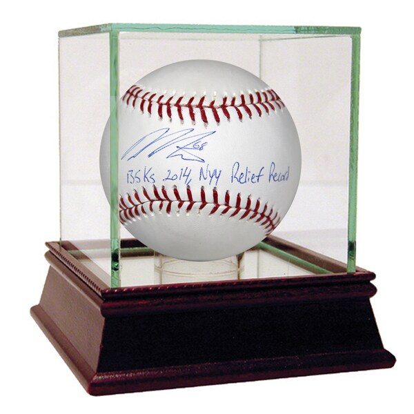 Dellin Betances Signed MLB Baseball w/ 135K's 2014, NYY Relief Record