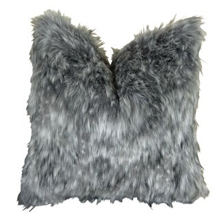 Plutus Grey Wolf Handmade Throw Pillow