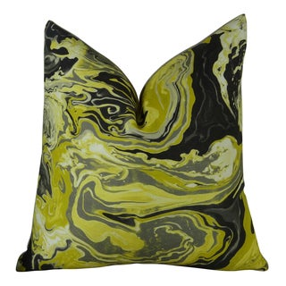 Plutus Medici Marble Ink Handmade Double-sided Throw Pillow