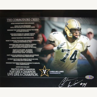 "Chris Williams ""The Commodore Creed"" Horizontal 8x10 17302345"