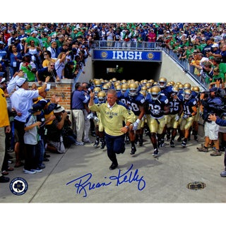Brian Kelly Notre Dame Running Out Of The Tunnel 8x10 Photo