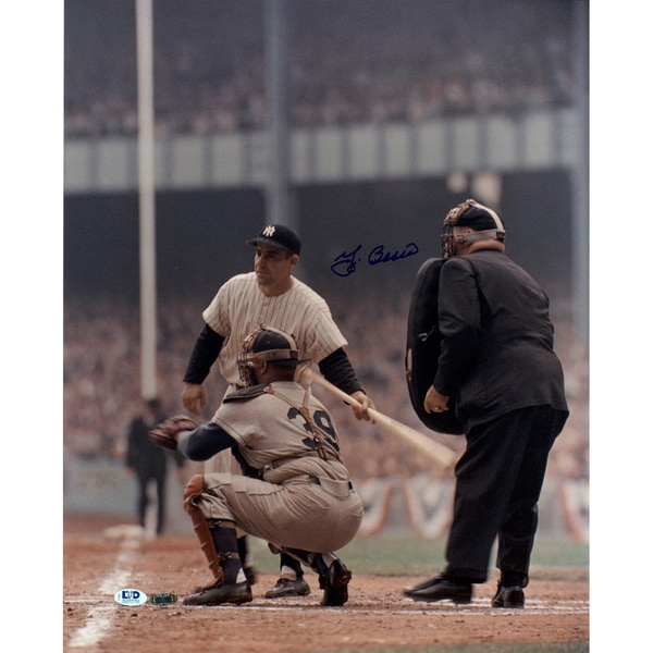 Yogi Berra Signed 16x20 Veritcal Color Photo LTD Auth