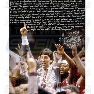 Dereck Whitenburg Signed NCAA Championship Win 16x20 Story Photo