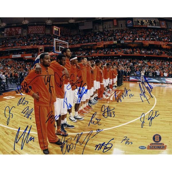 Syracuse Basketball 2011-2012 Season Before Game Team Signed Horizontal 16x20 Photo (Missing James Southerland)