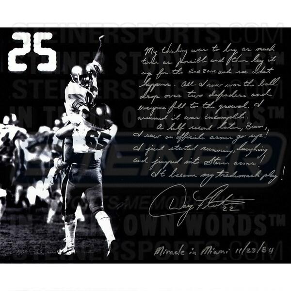 Doug Flutie Signed 16x20 Story Photo 17302480