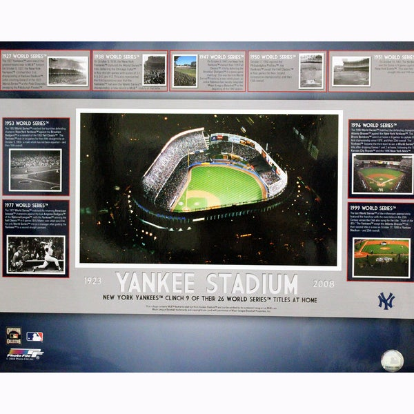 Yankee Stadium World Series Clincher Collage 16x20 Photo