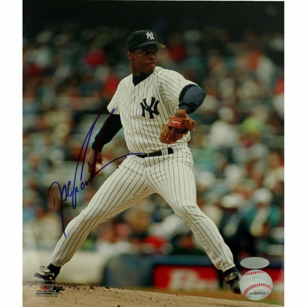 Doc Gooden Yankee Pinstripe Jersey Pitching Vertical 8x10 Photo