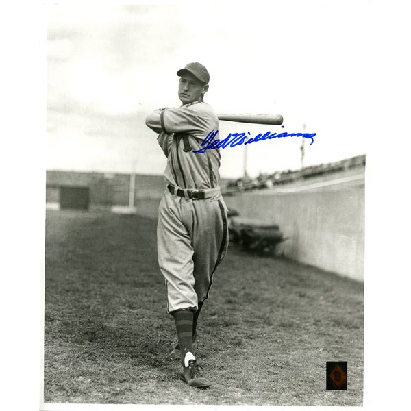 Ted Williams Signed Minneapolis Millers Black & White 16x20 Photo (Green Diamond Auth)
