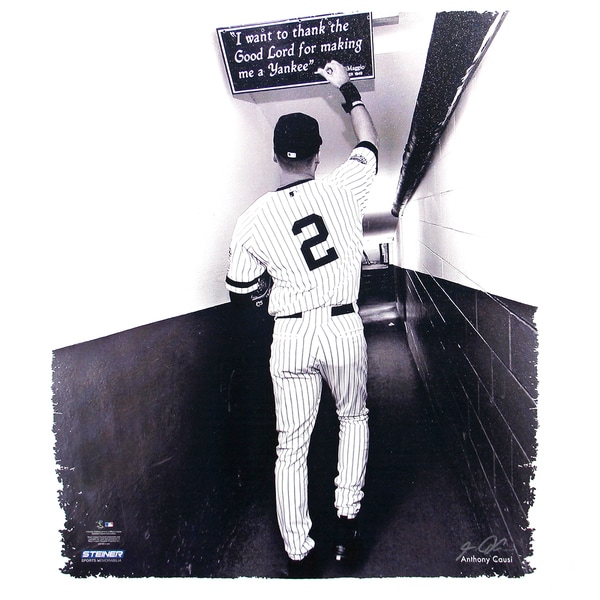 Derek Jeter Tunnel Right Hand Touching Quote 22x26 Canvas (Signed by Anthony Causi)