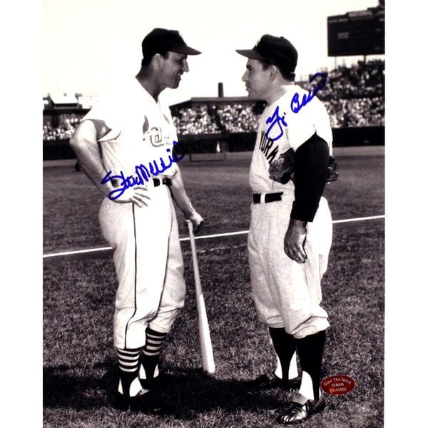 Stan Musial/Yogi Berra Dual Signed 8x10 Photo (Stan the Man Auth) 17302640