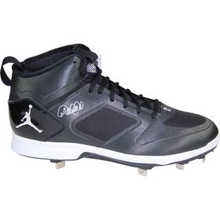 Derek Jeter Signed Jordan Brand Blue/White Lux Cleat (MLB Auth)