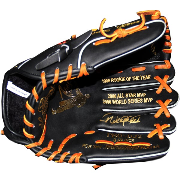Derek Jeter Signed Game Model Multi Stat Embroidered Glove Gold Edition (LE of 122)