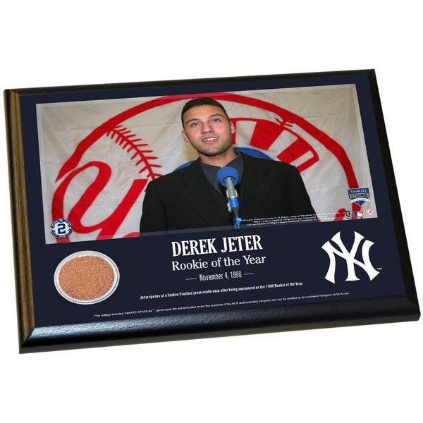 Derek Jeter Moments: Rookie of the Year 8x10 Dirt Plaque