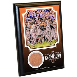 San Francisco Giants 2014 World Series 4x6 Celebration Dirt Plaque