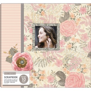 K&Company Patterned Post Bound Window Album 12inX12in Parisian Floral