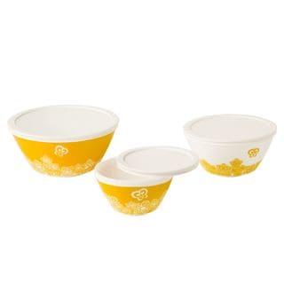 Pyrex Vintage Charm Golden Days 6-piece Mixing Bowl Set