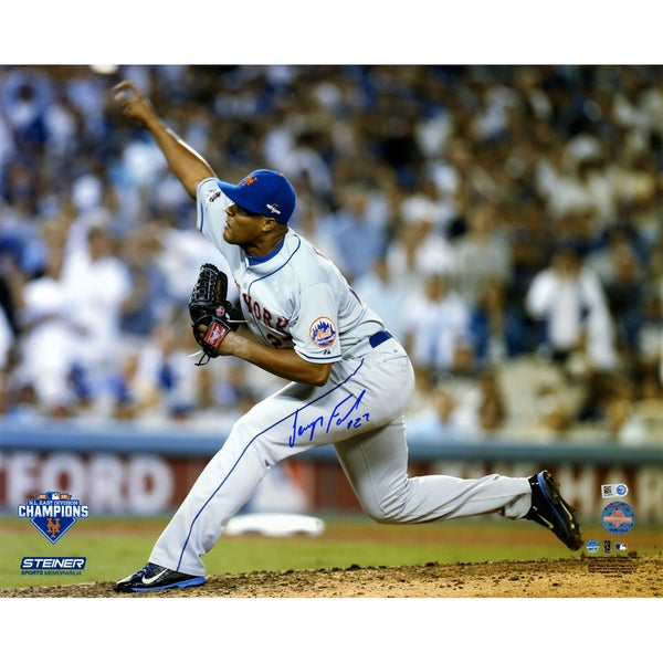 Jeurys Familia Signed 9th Inning 2015 NLDS Game 5 Pitching 16x20 Photo