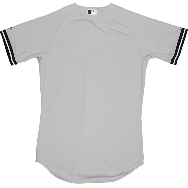 Majestic Authentic New York Yankees Gray Away Jersey (M) - Bulk, Size 40