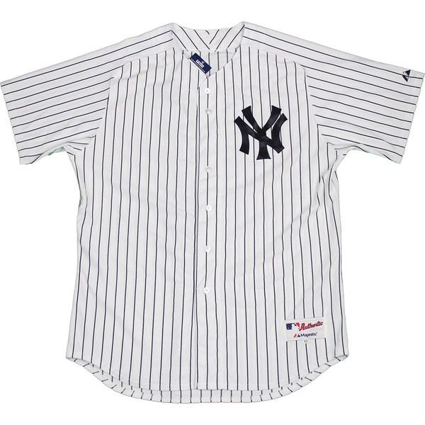 Majestic Authentic New York Yankees White Home Jersey (M) - Bulk, Size 40