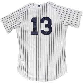 """Alex Rodriguez Signed in Silver New York Yankees Home Authentic Jersey w/ """"3,000th Hit, 6/19/15"""" Insc."""