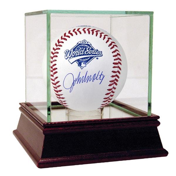 John Smoltz Signed 1995 WS Logo Baseball (MLB Auth)