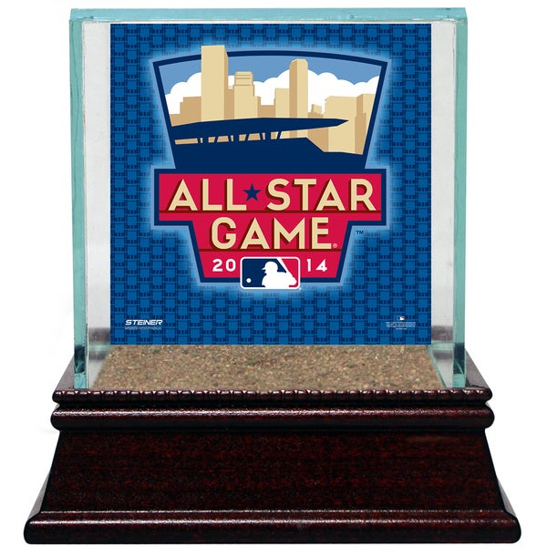 2014 All-Star Background Glass Single Baseball w/ Authentic Target Field Dirt