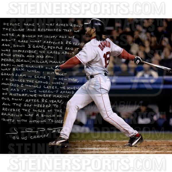 Johnny Damon Signed 04' Red Sox 16x20 Story Photo 17307533