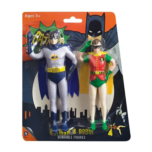 NJ Croce Batman Classic TV Batman and Robin Bendable Figure Set 17307541