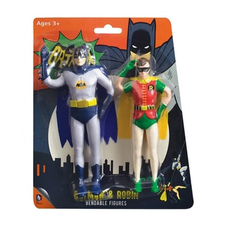 NJ Croce Batman Classic TV Batman and Robin Bendable Figure Set