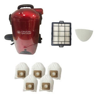 Red Crucial Backpack Vacuum and Blower/ Filter Kit and Bags (Part # KBP01)