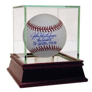 """John Montefusco Signed MLB Baseball w/ """"The Count, No-Hitter 9-29-76"""" Insc"""